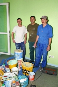 photo de trois peintres