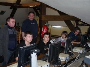 visite de l'atelier informatique
