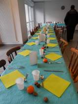 table dresée